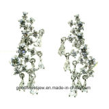 Buenos Quality y Fashion Style 925 Silver Earrings AAA CZ Zircon Earrings Special Shape Crystal Earrings E6295