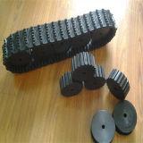 Piste en caoutchouc 100*20*76 de robot avec des pignons de diamètre de 250mm