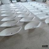 Washbasin de superfície contínuo acrílico da resina do gabinete de Kingkonree