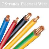 Alambre eléctrico trenzado 7 y cable del aislante de cobre del PVC
