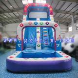 子供水ゲームの膨脹可能なAmusemmentのスライド水公園膨脹可能な水