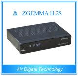 Decodificador gêmeo da televisão satélite do afinador DVB S/S2 com IPTV Zgemma H. 2s