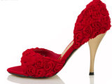 Sandalias atractivas del alto talón de las mujeres hermosas de Rose