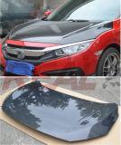 para Honda Civic X 10mo 2016 capos del capo motor de la fibra del carbón
