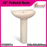 Lavabo sur pied en deux pièces de lavage de main de Vireous Colourfull de porcelaine