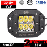 CREE Work LED Light Flush Mount (3 polegadas, 30W Spot, IP68 impermeável)