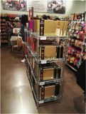 Prateleira de indicador material metálica chapeada cromo do supermercado pequeno do NSF