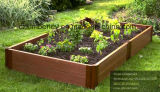 Plantador de flores de bloqueio WPC para uso de jardim privado