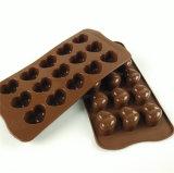 Molde del chocolate del silicón de 10 moldes