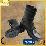 黒い本革の安い価格の安全靴の軍の戦術的な戦闘用ブーツ