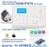 Ademco Dual GSM+PSTN Alarm System Home Security with Touch Propellent-actuated device and Voice