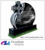 Grafsteen van het Graniet van Shanxi de Zwarte Ierse Keltische Dwars voor Gedenkteken