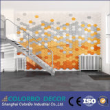 El panel de techo acústico de las lanas de madera de la fibra de la absorción sana