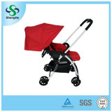 Nuevo Design Reversible Aluminum Alloy Baby Stroller con Adjustable Footrest (SH-B11)