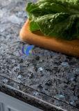 磨かれた自然で青い真珠の花こう岩の平板