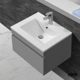Kkrの固体表面の浴室の虚栄心の単位、壁に取り付けられたキャビネットの洗面器