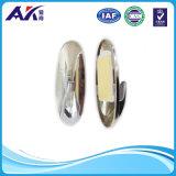 O gancho de suspensão plástico adesivo para o cromo material do ABS do agregado familiar chapeou 2 PCS em um bloco