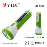1W Solar Plastic Rechargeable LED Torch