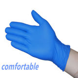 Luvas azuis descartáveis do nitrilo de Malaysia da luva descartável do nitrilo das luvas do nitrilo do exame