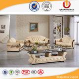 純木フレーム/標準的で高貴なソファー(UL-X2028A)が付いているヨーロッパの上のグレーンレザーのソファー