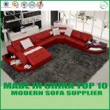 Sofà moderno del cuoio del sofà del salone