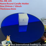 4mm Large Round Blue Glass Candle Holder