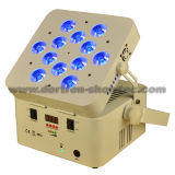 PARIDADE a pilhas sem fio 12X12W RGBWA+UV 6 in-1 do diodo emissor de luz de DMX