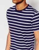 T-shirt bleu et blanc de Mens de vente en gros d'usine de la Chine de piste