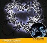 Estrella/Pentagram del hierro de la luz de la cadena de la energía solar 30-LED por el Nuevo-Año Lh-Ss20 de la boda de la Navidad