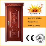 王冠(SC-W085)が付いている現代デザイン内部のベニヤの木製のドア