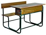 Mesa do dobro do estudante da escola & cadeira conetadas populares Sf-07D2