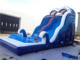 Caliente venta azul color océano tema barco forma inflable agua diapositiva