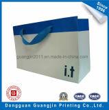 Portador del diseño simple blanqueado de papel Kraft Bolsa de Compras