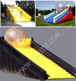 El mejor Seller Inflatable Zorb Ramp con Race Track para Zorb Ball y Roller Ball, Inflatable Zorbing Ramp/Zorbing Ball Inflatable Zorb Ball Ramp B6079