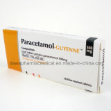 Tablette analgésique de paracétamol de l'antipyrétique 500mg de médecine d'usine de GMP