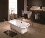 Pequeña bañera de piedra artificial de acrílico pura derecha libre