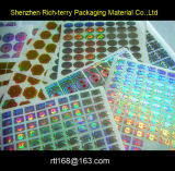 Gold 2D 3D Holographic Sticker