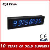 """Часы стены цифров СИД дистанционного управления 1 [Ganxin] """" голубые"""