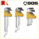 Ключ Hex ключа высокого качества 9PCS установил для типов ключа Ален
