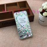 Couverture/caisse de téléphone de crême glacée de poudre de scintillement pour l'iPhone 6/6plus
