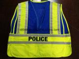 A polícia da segurança investe com o logotipo cinco da cópia rasga afastado