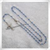 Come pregare il rosario, rosario di legno religioso dei branelli (IO-cr326)