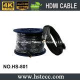 100 mètres de câble de fibre optique à grande vitesse de HDMI