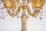 De duidelijke Houder van de Kaars van het Glas voor de Decoratie van het Huis met Vijf Affiches,