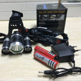 2*18650 Battery+ 충전기 USB 재충전용 5000lm 크리 사람 Xml 3 T6 LED Headlamp 어업 플래쉬 등 알루미늄 헤드라이트