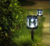 Iluminación al aire libre coloreada solar de la luz del jardín de la luz del césped