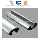 SUS304, tubo de acero inoxidable 316 para el pasamano de cristal