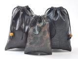 Твердое тело делает по образцу мешки Drawstring Leatherette