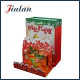 Штейновый прокатанный мешок подарка с Рождеством Христовым бумаги цвета слоновой кости 3D бумажный