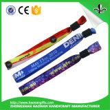 Fabrik-preiswerte kundenspezifische Qualitäts-bunte GewebeWristbands keine minimale Ordnung